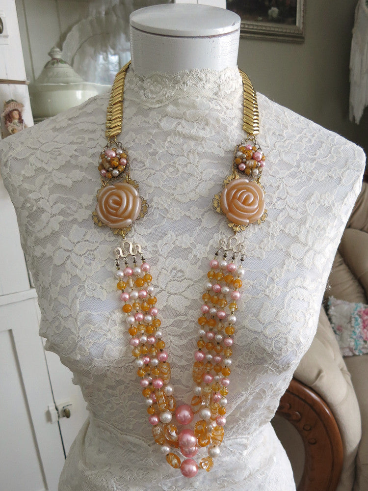 Peaches & Cream Necklace