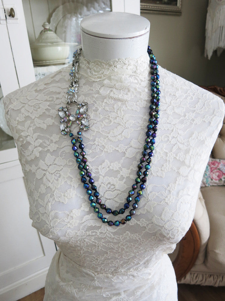 Fabulous Carnival Glass Necklace