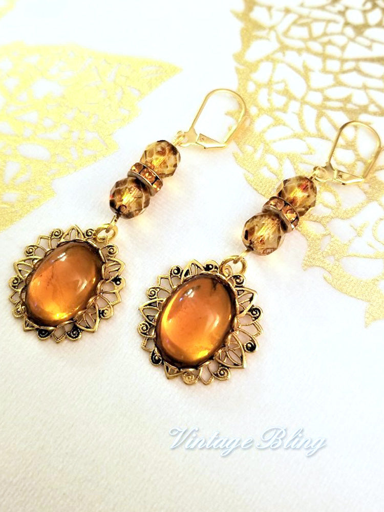 Butterscotch Earrings