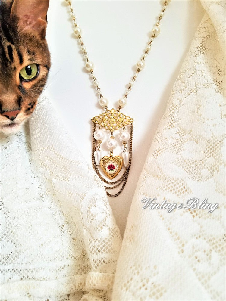 Gold Plated Heart Locket Necklace