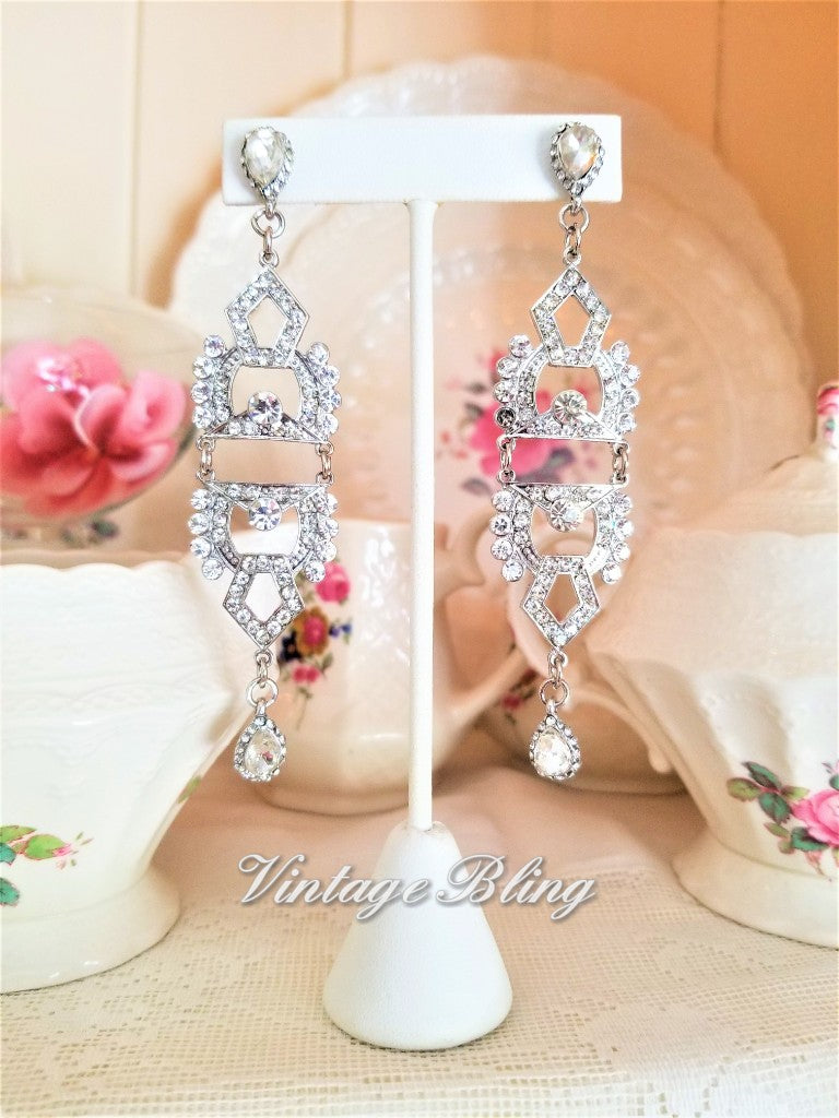 Show Stopping Rhinestone Earrings