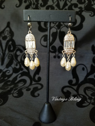 Cascading Pearl Earrings
