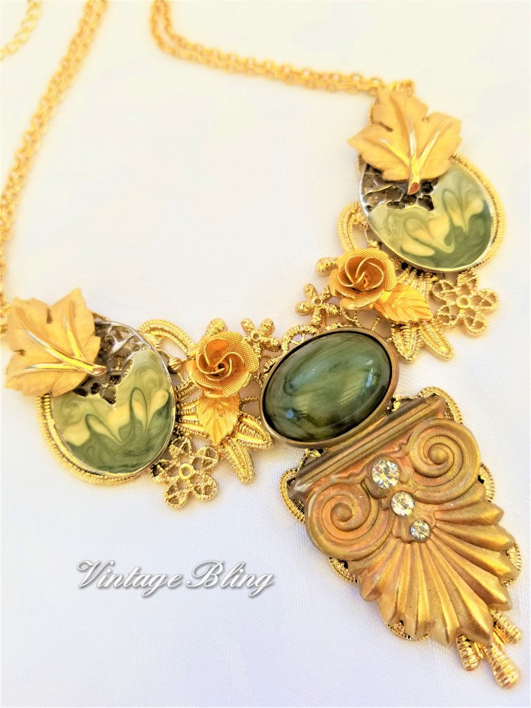 Art Deco Bib/Collar Style Necklace