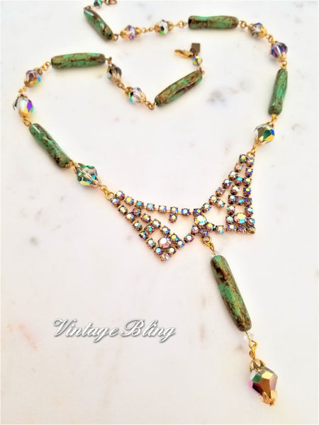 Magnificent Aurora Borealis Necklace