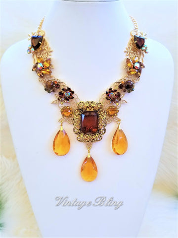 Butterscotch Statement Necklace 18K