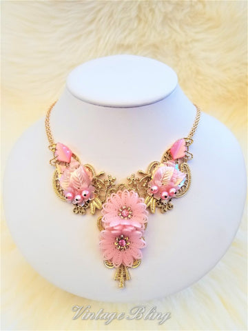 Pretty Pink Statement Necklace