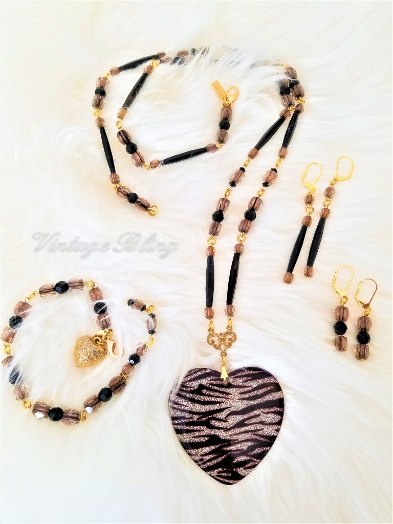 Tiger Long Earrings
