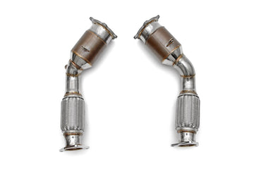 Fabspeed Porsche 955 Turbo / Turbo S Primary Sport Catalytic Converters (2002-2007)