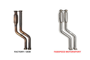 FabSpeed BMW M3 E46 Cat Bypass Pipes
