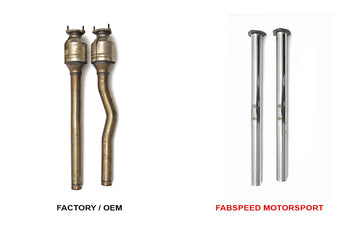 FabSpeed Audi TT-RS Secondary Cat Bypass Pipes