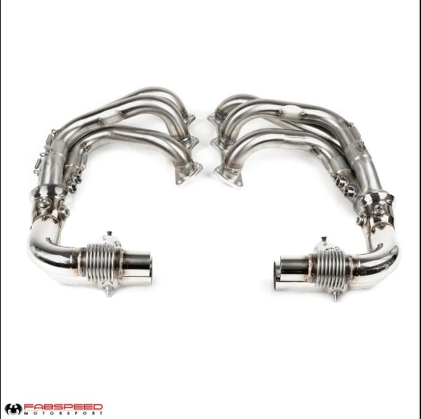 Fabspeed Porsche 997.2 GT3 / GT3 RS Side Muffler Bypass Pipes (2010-2011)