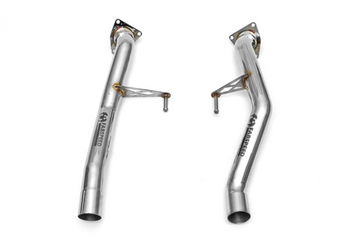 Fabspeed Porsche 955 Turbo / Turbo S Secondary Cat Bypass Pipes (2002-2007)