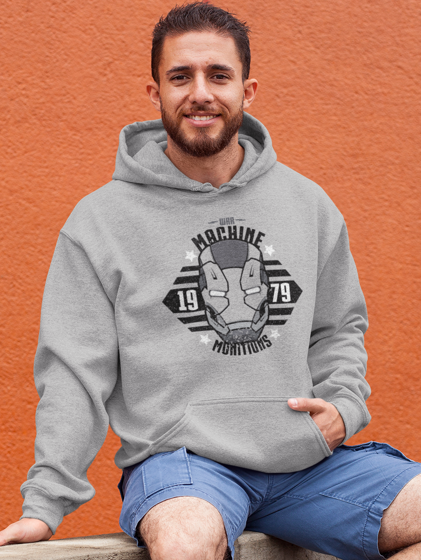 Men Full Sleeves Grey Cotton Avengers Hoodie Sweatshirt