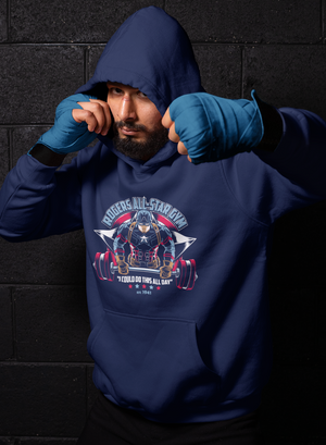 Men Full Sleeves Navy Blue Cotton Avengers Hoodie Sweatshirt