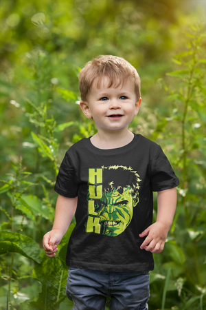 Kids Half Sleeves Black Cotton Avengers T-Shirt