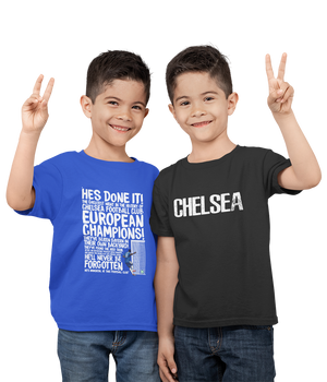 Kids Premium Quality 100% Bio Wash Cotton Royal Blue and Black Combo T-Shirt KIDS_RB-BLK_COMBO_008