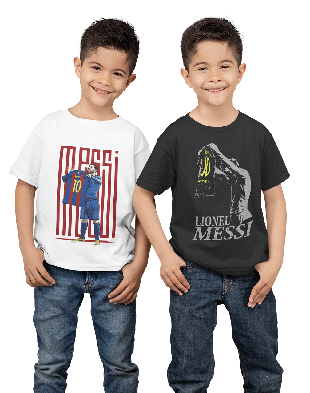 Kids Premium Quality 100% Bio Wash Cotton White and Black Combo T-Shirt KIDS_WT-BLK_COMBO_006