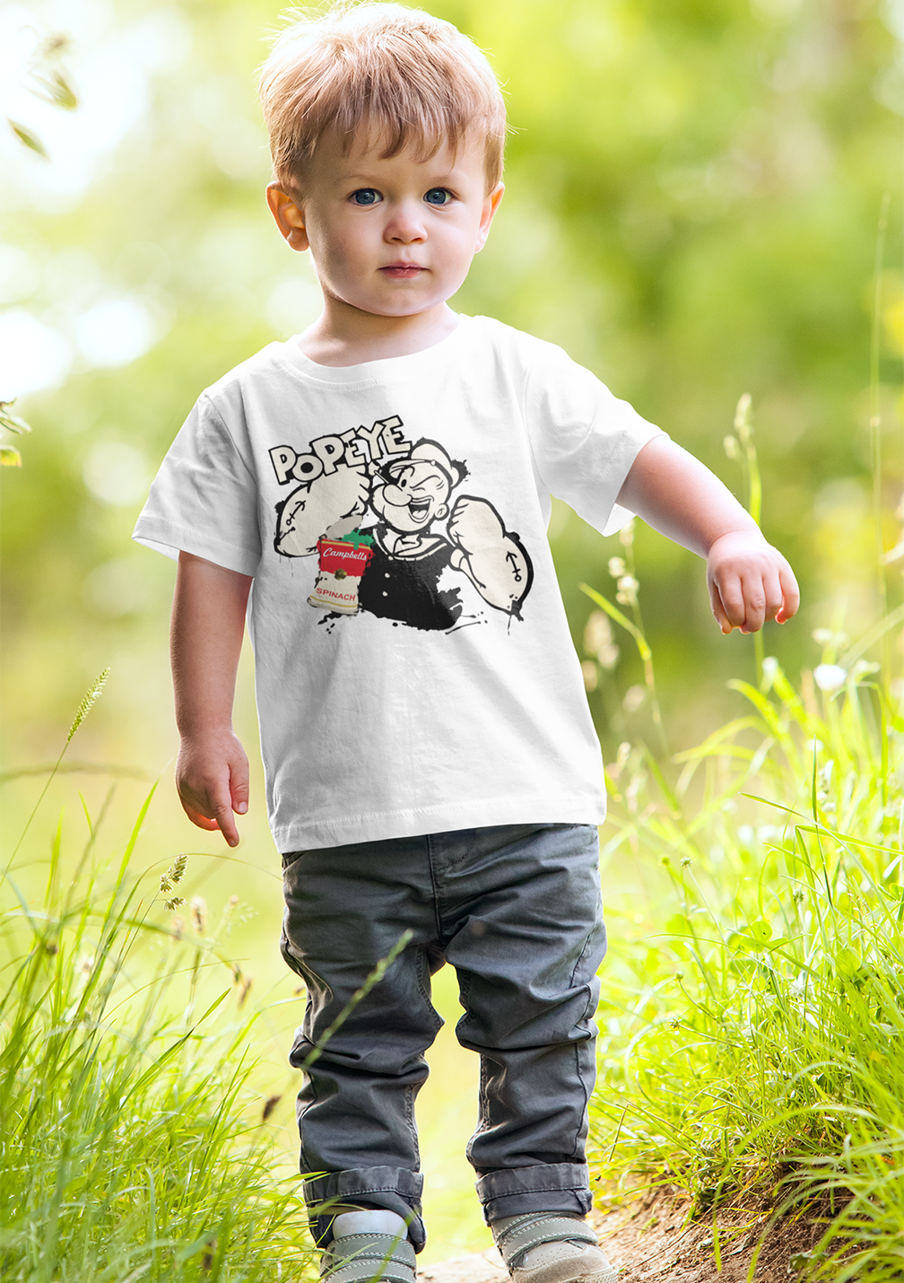 Kids Premium Quality 100% Bio Wash Cotton White T-Shirt KIDS_WT_PPY_018