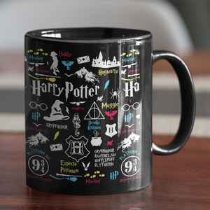 Black Ceramic Coffee Mug MUG_BLK_HPTR_01