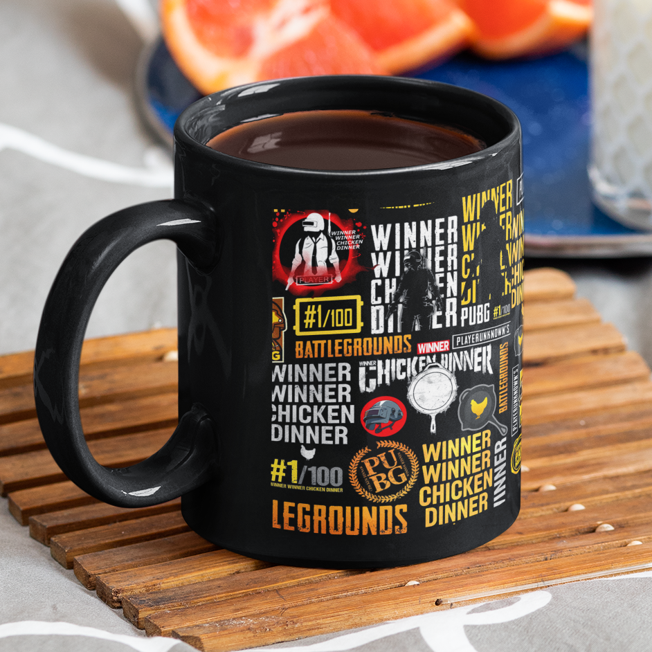 Black Ceramic Coffee Mug MUG_BLK_PBG_04