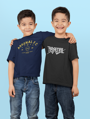 Kids Premium Quality 100% Bio Wash Cotton Navy Blue and Black Combo T-Shirt KIDS_NB-BLK_COMBO_007