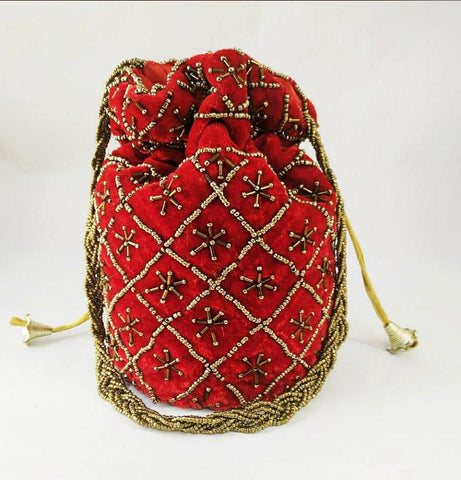 Handmade Potli Embroidery Bag
