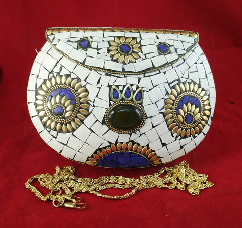 Handmade Royal Pearl Clutch Bags