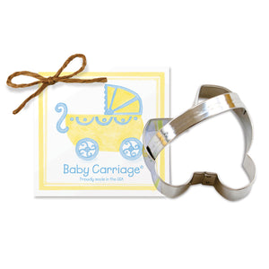 "Ann Clark 3-1/4"" Baby Carriage Cookie Cutter (ACBC)"