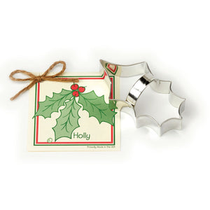"Ann Clark 4-1/2"" Holly Leaf Cookie Cutter (ACHL)"