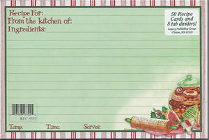 "Gooseberry Patch Christmas Cookies 4"" x 6"" Recipe Cards"