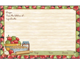 "Deb Strain Apple Pie Apple Butter and Fresh Apples 4"" x 6"" Recipe Cards"