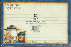 "Diane Knott Farm Fresh Country Coffee in Pot 4"" x 6"" Recipe Cards"