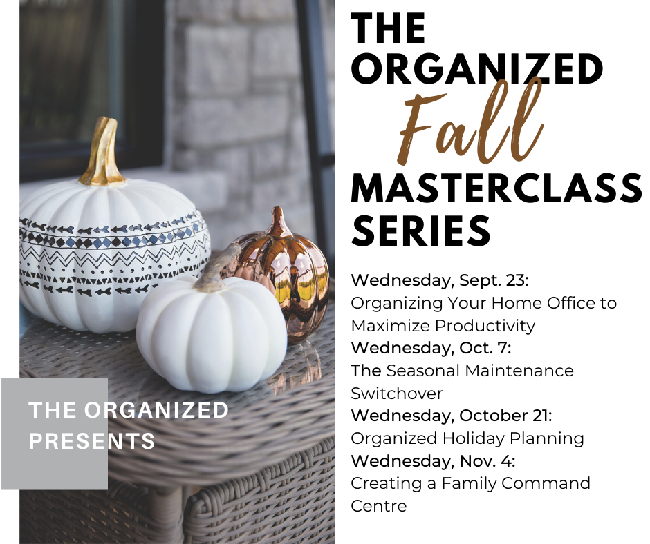 Introducing The Organized FREE Masterclass Series