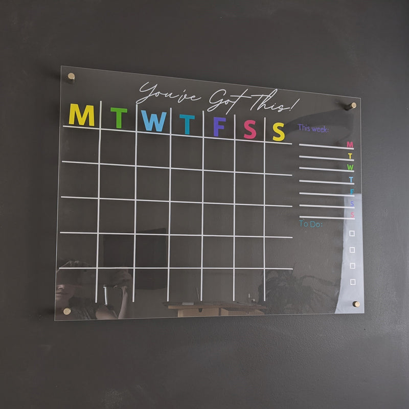 Personalized Acrylic Wall Calendar - Large