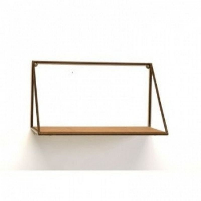 Wood and Metal Hanging Shelf