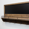 Wall Chalkboard with Shelf and Hooks