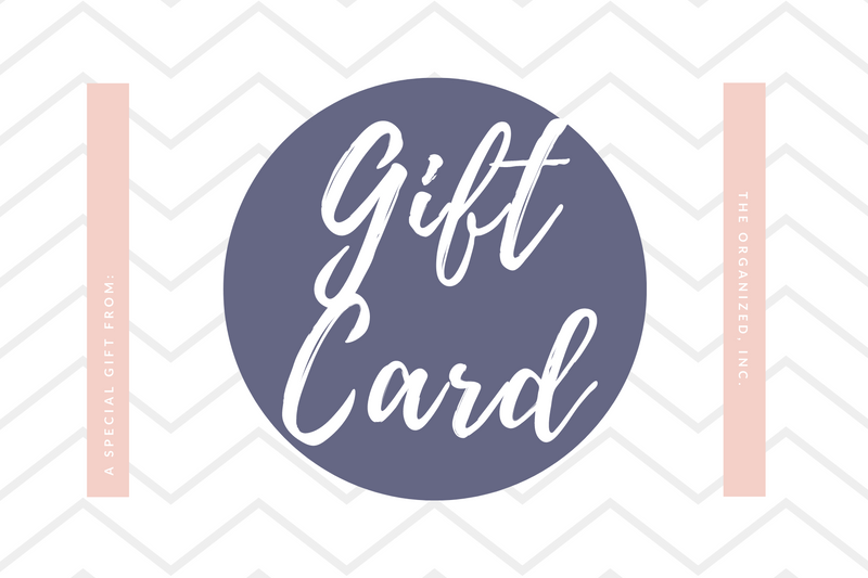 The Organized Gift Cards