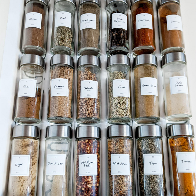 The Organized Signature Spice Labels