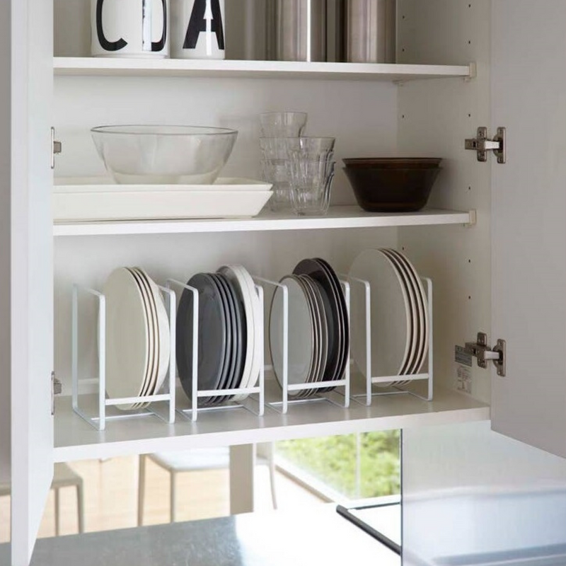 White Large Tower Dish Storage Rack