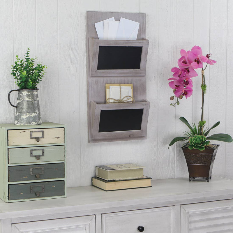 Wall Hanging Mail & File Storage with Chalkboard