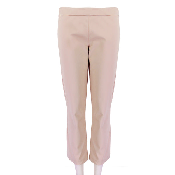 The Row luxurious pale peony pink cropped trousers pants