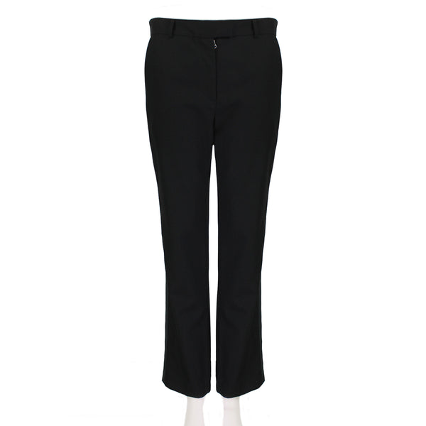 J W Anderson black wool & cashmere blend tuxedo trousers