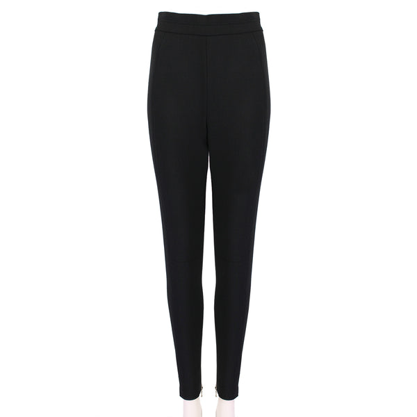 Alexander McQueen black slim-fitting jodhpur trousers with high waist and tapered leg