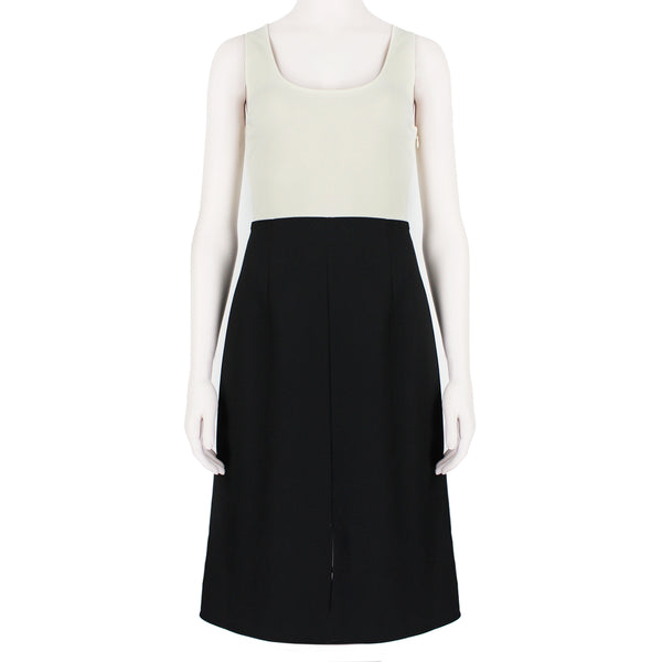 ACNE Studios minimalist colour block shift dress in ivory and black