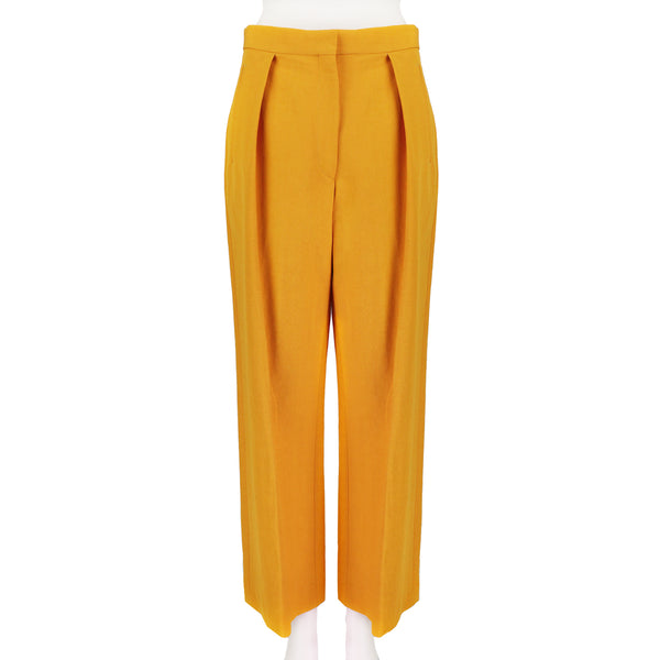 Dries Van Noten wide leg high waist yellow trousers pants