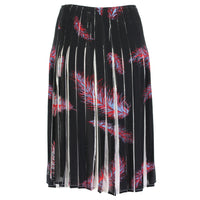 Emilio Pucci feather patterned pleated skirt in silk crepe