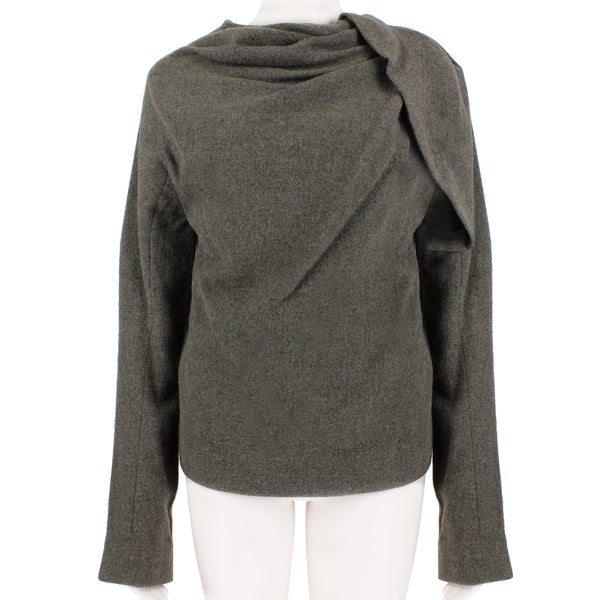 Haider Ackermann luxurious asymmetric top with gathered detailing