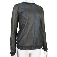 Nina Ricci fine-gauge sheer knitwear in dark brown and midnight blue