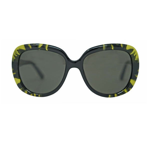 Dior Tie Dye 1 polarised oversize sunglasses in black and lime green