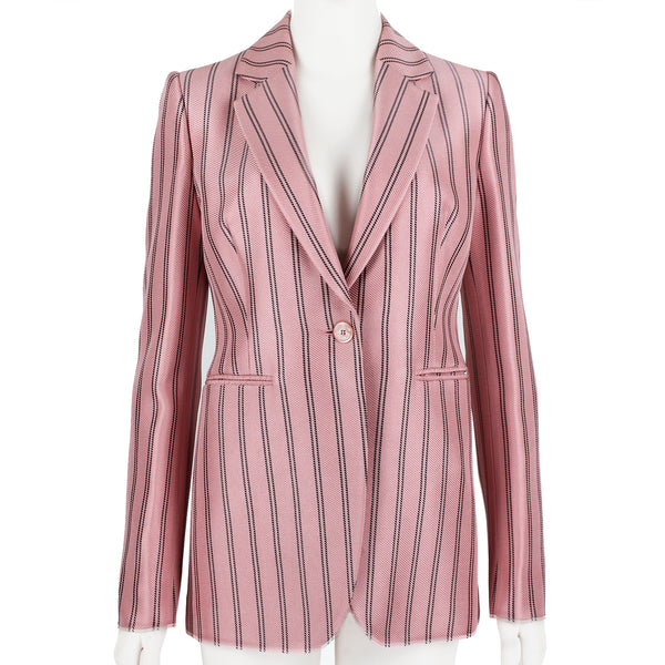 Emilio Pucci candy pink and black tailored fit boating jacket blazer